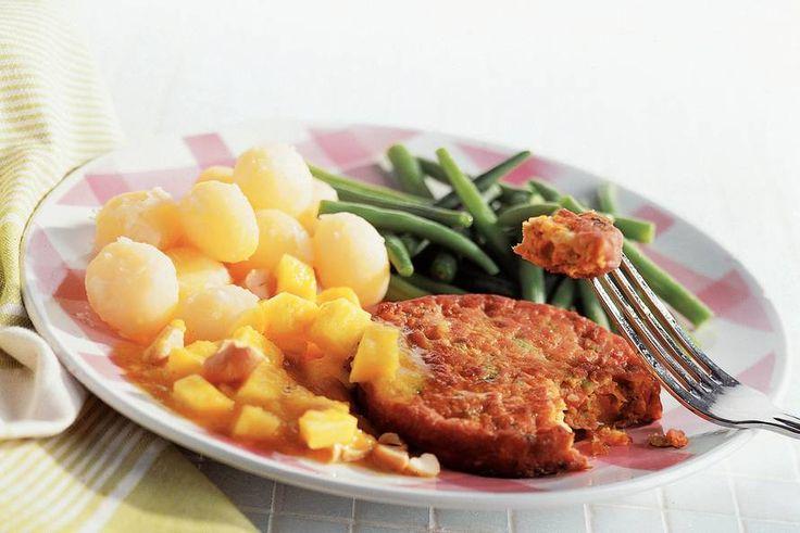 Groenteburger met kerrie-mangosaus - Recept - Allerhande