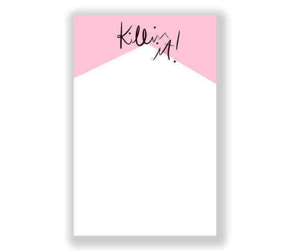 Cute Notepad: Killin It Girlboss Notepad by AThingCreated on Etsy