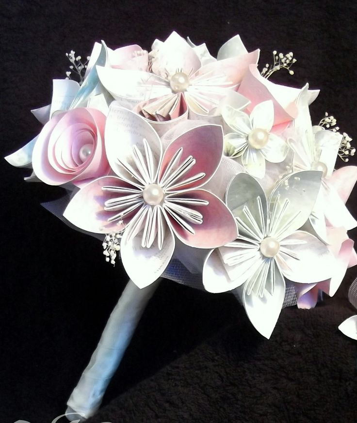 promo 20 bouquet de mari e romantique fleurs en origami bouquets origami and love the. Black Bedroom Furniture Sets. Home Design Ideas