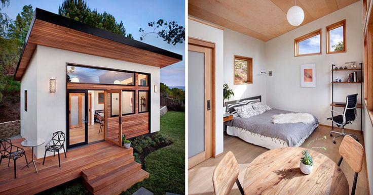 This small backyard guest house is big on ideas for compact living-