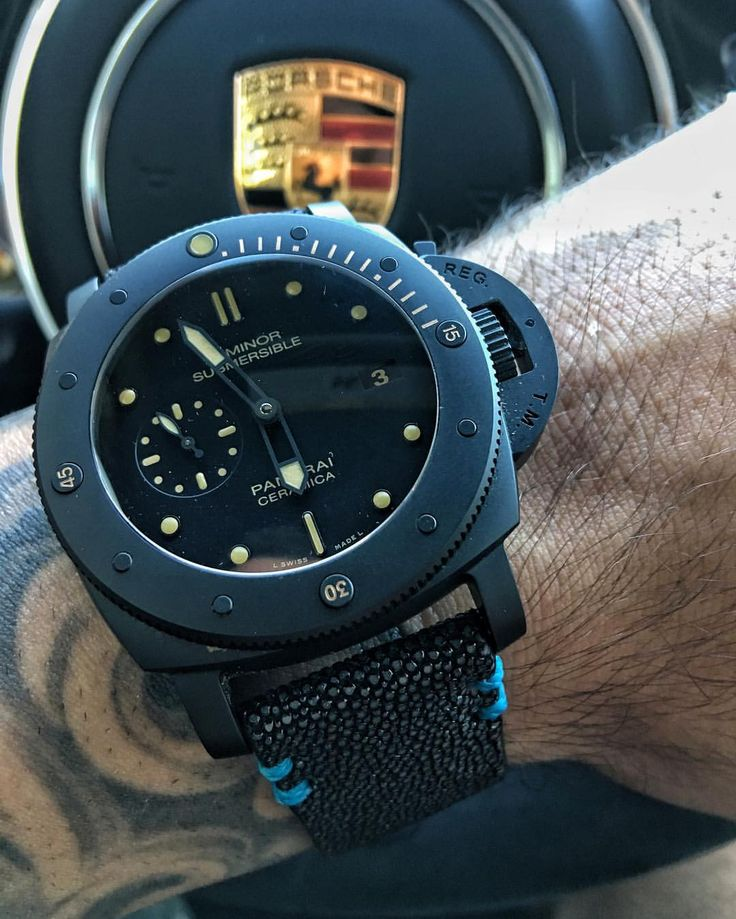 Question. Is the #Panerai PAM508 on of the sickest Submersible after the Bronzo? For me it's becoming a toss up between this Ceramic one verus the Carbotech. What are your thoughts? Pic by @andyfrisella #PaneraiCentral