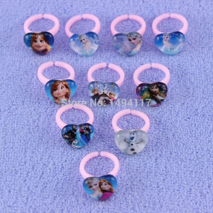 Симпатичные горячая распродажа замороженные дети кольца 10 стили смешанные
