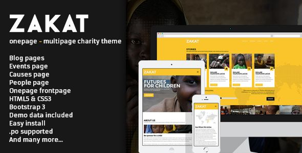Zakat - Onepage/Multipage WordPress Charity Theme