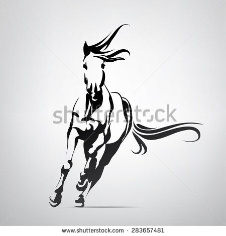 39 best images about tattoos on pinterest for Running horse tattoo