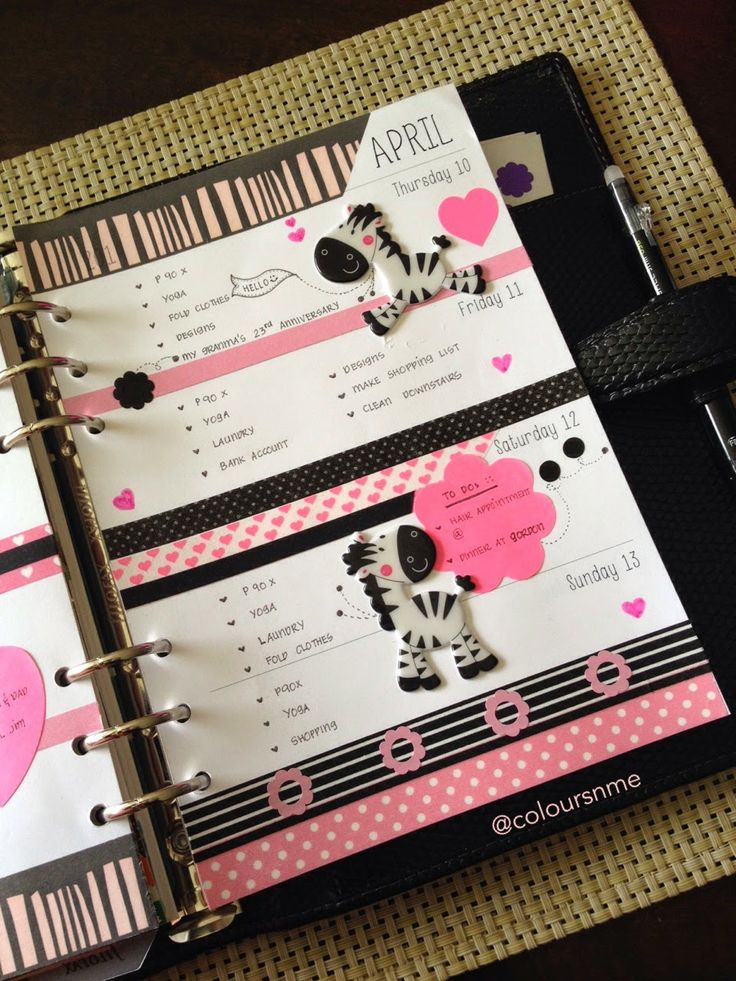 Coloursnme: Filofax A5 Chameleon in Black :: Zebra Inspired