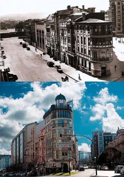 Antes y Después de esquina de Marqués de Amboage - camposa