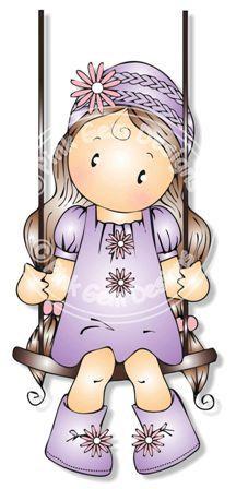 Chloe digital (Digi) en sello del columpio - cumpleaños, día de madres