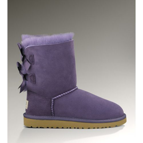 UGG Kids Boots 3280 Bailey Bows Purple Free Shipping