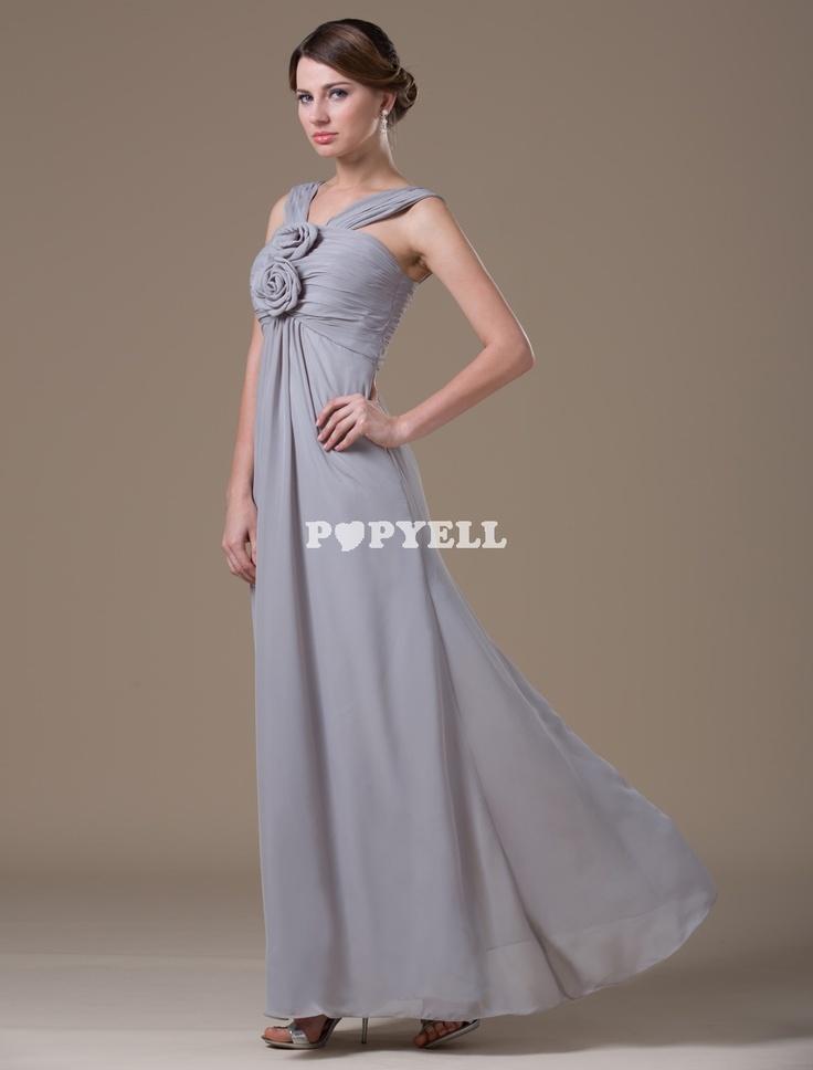 #robe #mariage Robe a pali a corde avec mousseline de soie grise pour femme enceinte