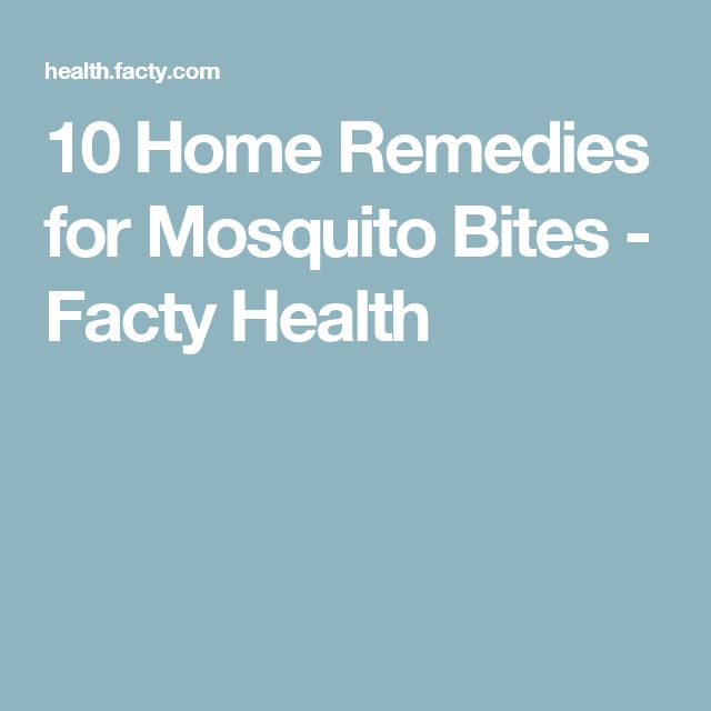 10 Home Remedies for Mosquito Bites  - Facty Health