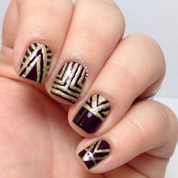 art deco nails gatsby nails pinterest. Black Bedroom Furniture Sets. Home Design Ideas