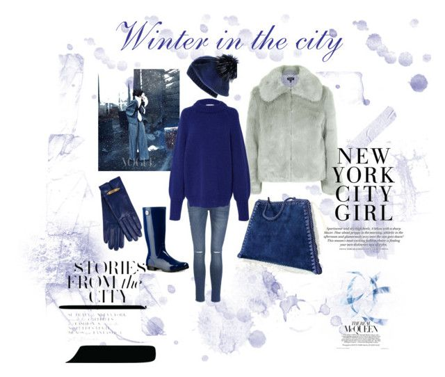 Winter in the City by mariliart on Polyvore featuring TIBI, Topshop, Anine Bing, UGG, Moschino and Black and @MariliartbyM