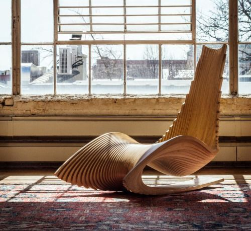 DIWANI CHAIR: A Sculptural Rocker By AE Superlab    Inspired By Arabic  Diwani Calligraphic Script, Ahmed ElHusseiny Of AE Superlab, Designed A  Sculptural ...