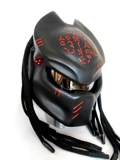 »Basic Helm KYT Certificate DOT »Cover Predator quality fiber materials »Cover removable Predator (for treatment) »Hair Custom Handmade. »3 seeds LED - Laser, equipped with on-off...@ artfire