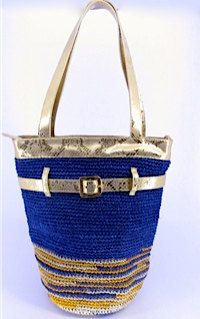 hand made bag with leather and fique by teiruma on Etsy, $145.00