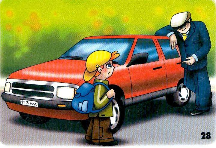 nesadať do auta s neznámym človekom