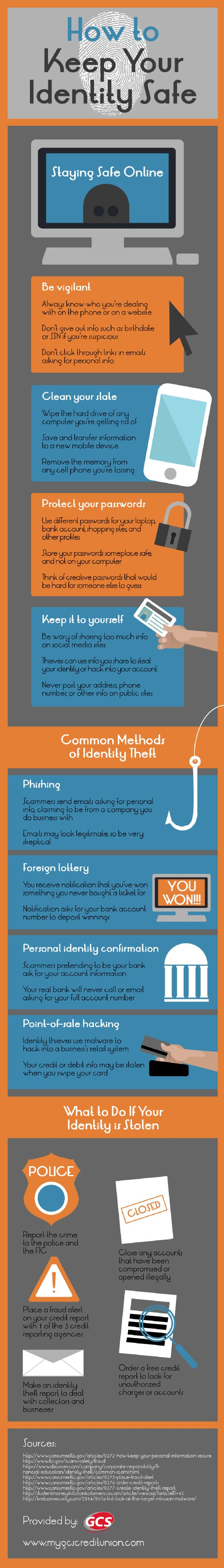 How to Keep Your Identity Safe   #Infographic #HowTo #Identity
