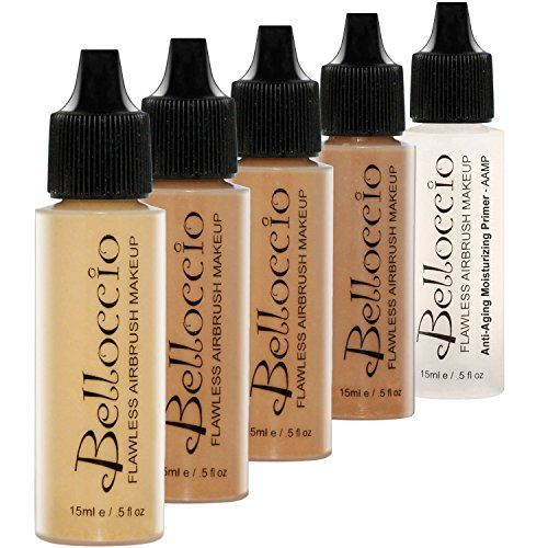 Belloccio Tan Color Shades Airbrush Makeup Foundation Set