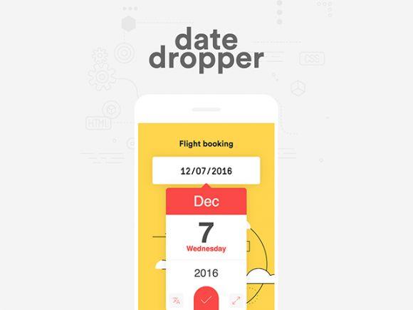 Date Dropper – jQuery UI datepicker