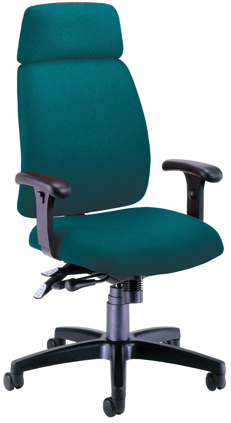 Teal office chair (With images) | Black office chair ...