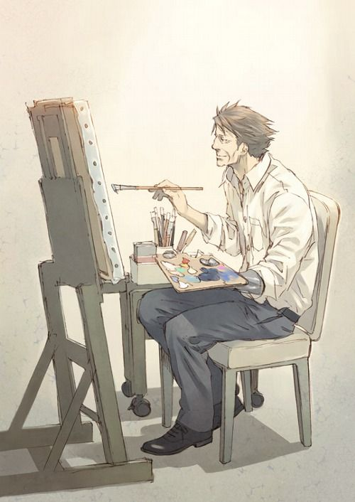 Oh yea Masaoka was a painter...I never understood that scene :/ <---it showed he saw everything in a different picture
