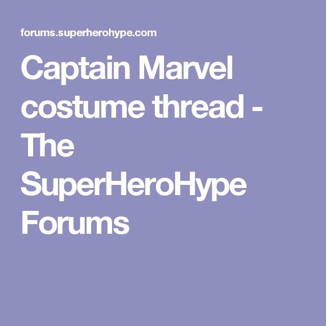 Captain Marvel costume thread - The SuperHeroHype Forums
