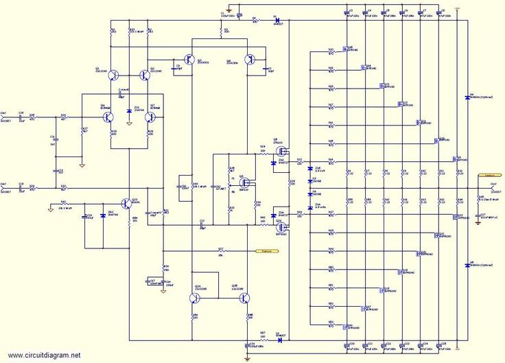 800w high power mosfet amplifier circuit diagram