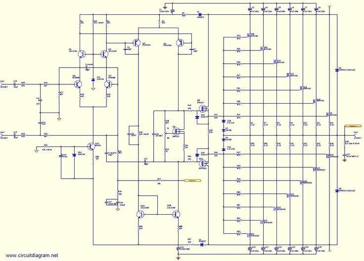 mosfet audio amplifier circuit