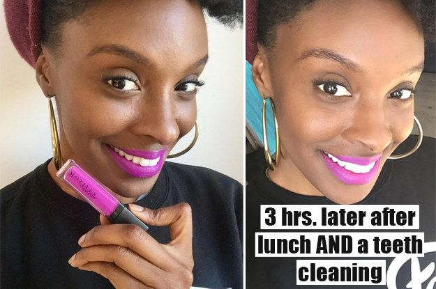 I legit got my teeth cleaned and Motives Maven Mattes liquid lipstick STILL stayed on! | 7 Beauty Products I Tried That Actually Work