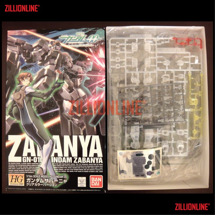 [MODEL-KIT] [P-BANDAI] HG 1/144 GN-010 GUNDAM ZABANYA [LIMITED CLEAR VER.]. Item Size/Weight : 31 x 19 x 7.8 cm / 410g* (*ITEM SIZE & WEIGHT BEFORE PACKAGED). Condition: MINT / NEW & SEALED RUNNER. Made by BANDAI.
