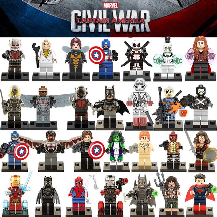 1 unid diy figuras super hero avengers de marvel x-men capitán américa 3 batman building blocks figuras ladrillos niños juguetes de regalo de navidad