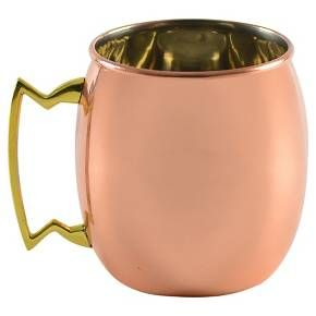 Ten Strawberry Street Antique Copper Mug Set of 2 - Copper