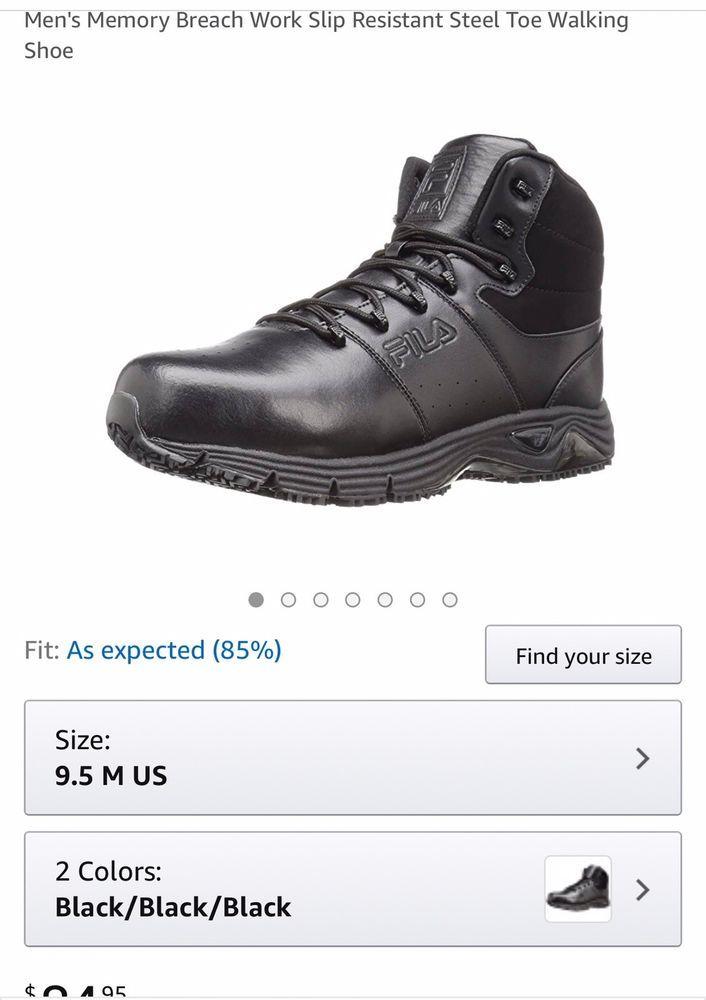 66bf4fd124 Fila Men's Memory Breach Work Slip Resistant Steel Toe Walking Shoe ...