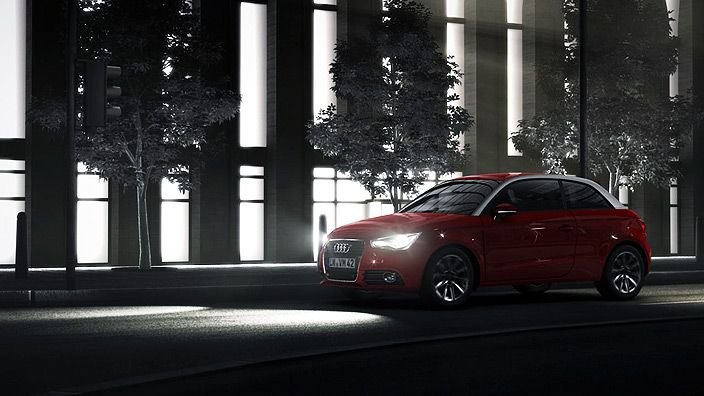 #AudiA1 #night #lights #red