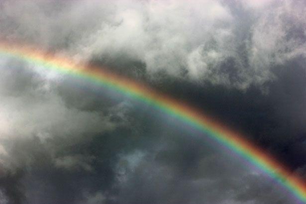 Dark cloud Rainbow
