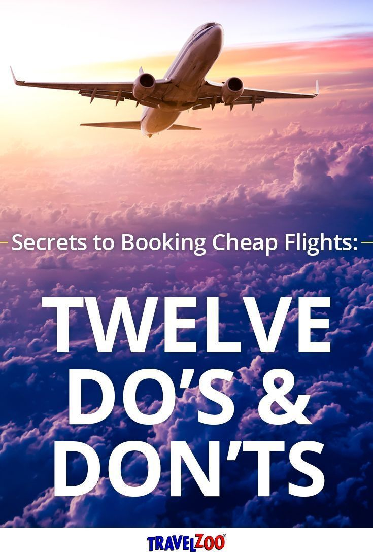 We've rounded up their smartest tips to help save you time and money when booking airfare. Explore the best travel deals, cheap flights, tips and tricks for your next vacation http://www.travelzoo.com/blog/secrets-booking-cheap-flights-12-best-dos-donts/?utm_source=_Pinterest&utm_medium=social&utm_campaign=12CheapFlights&source=_pinterest #cheapflights