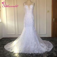 US $198.00 Vestido De Noiva New Mermaid Lace Wedding Dresses Sweetheart Open Back Spaghetti Straps White Mermaid Bride Dresses Casamento. Aliexpress product