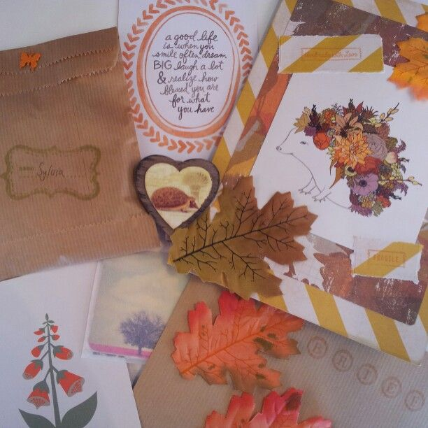 Snailmail made by me. Autumn