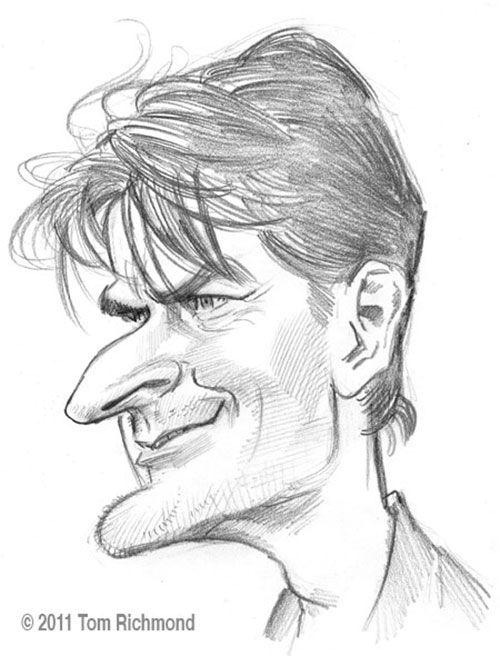 """CARICATURAS DE FAMOSOS: """"Charlie sheen"""" por Tom Richmond"""