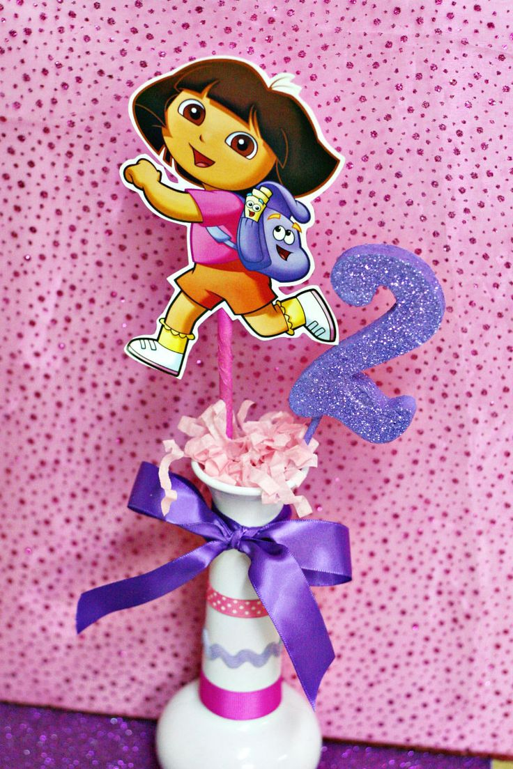 Dora Party Centerpiece by PartyHousesupplies on Etsy, $9.99