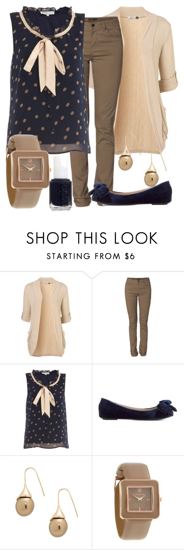 """Teacher Outfits on a Teacher's Budget 50"" by allij28 ❤ liked on Polyvore featuring WalG, Vero Moda, Sugar Reef, Betty Jackson, Red Herring, Essie, women's clothing, women, female and woman"