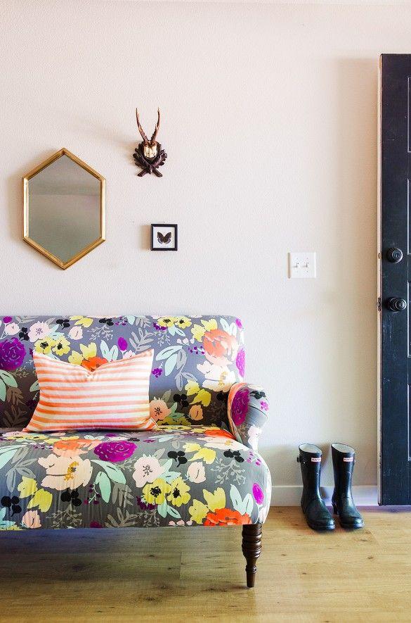Home Tour: A Textile Designer's Preppy, Feminine Space via @mydomaine