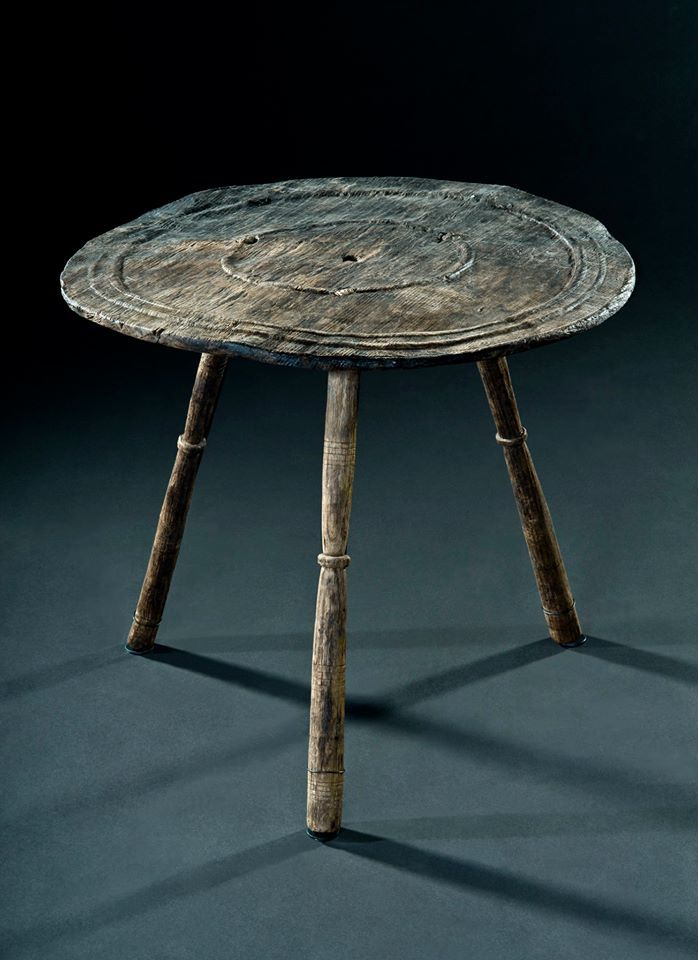 Trossingen Grave 58 (6th C) Small Round Table. The Table Top With A