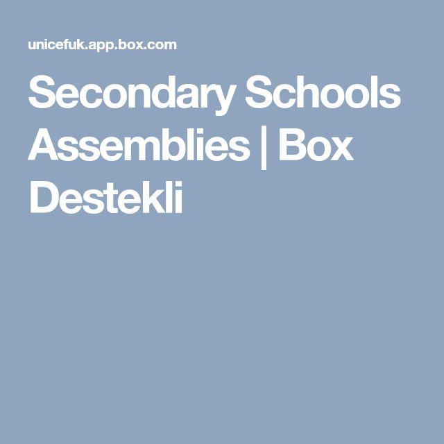 Secondary Schools Assemblies | Box Destekli
