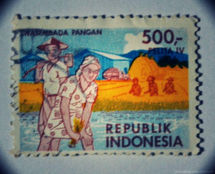 """perangko Pelita IV """"Swasembada Pangan"""" (Rp 500)"""