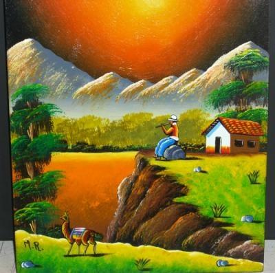 Cuadros artesanales cuadros pintados trupan acuarela - Cuadros artesanales infantiles ...