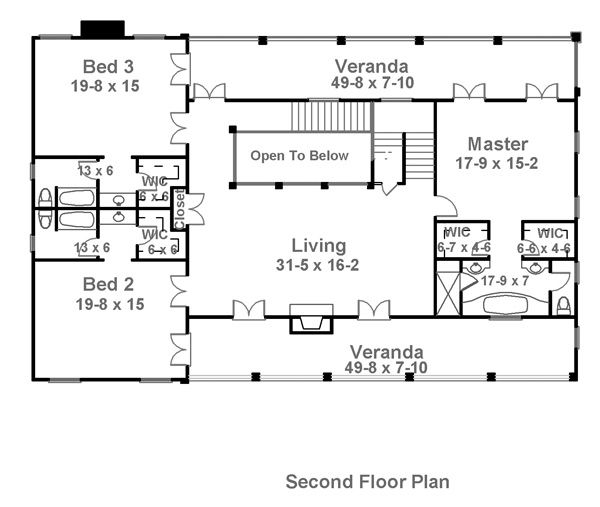 Charleston House Plan   1836   2nd Floor... Love The Master Bedroom/