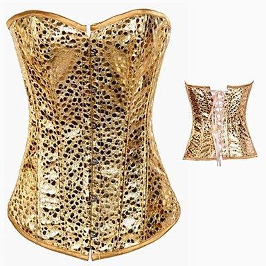 Bruiloft/Speciale gelegenheden/Informeel - Korsetten - Imitatieleer - Linten - Corrigerend ondergoed/Slipjes - goud – EUR € 29.99