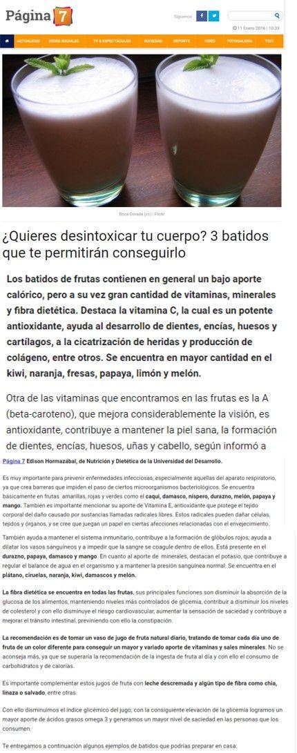 ¿Quieres desintoxicar tu cuerpo? Tres batidos que te permitirán conseguirlo - Carrera de Nutrición y Dietética (Concepción) | Universidad del Desarrollo