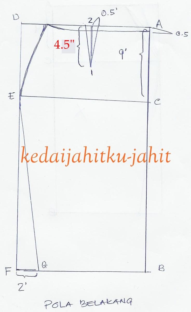 """Ruang berkongsi """"cerita"""" dan """"ilmu jahitan"""": Pola Kain Lipat Batik.."""